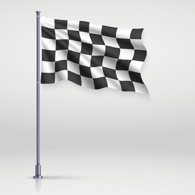 Illustration du drapeau à damier Vecteur Premium