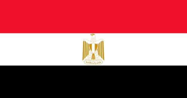 Illustration du drapeau de l'egypte Vecteur gratuit