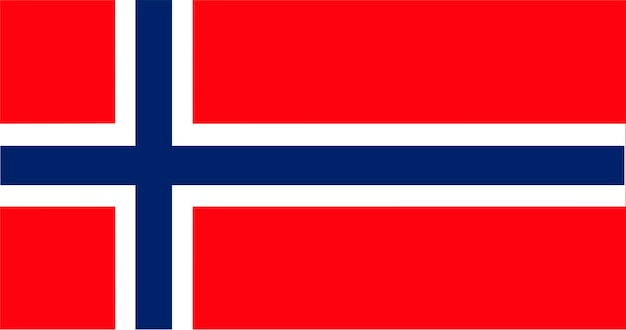 Illustration du drapeau de la norvège Vecteur gratuit