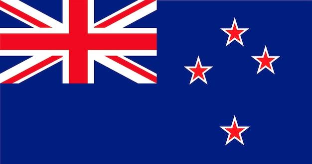 Illustration du drapeau de la nouvelle-zélande Vecteur gratuit