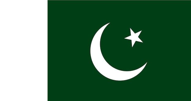 Illustration du drapeau pakistanais Vecteur gratuit