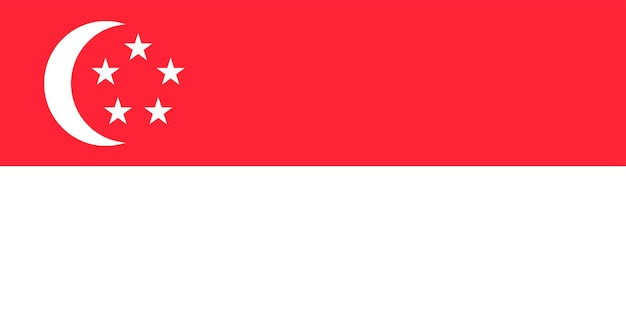 Illustration du drapeau de singapour Vecteur gratuit