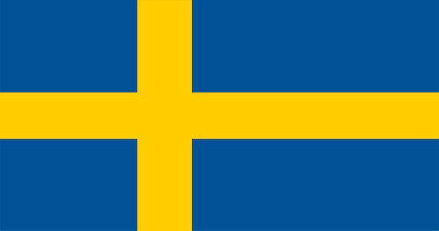 Illustration du drapeau de la suède Vecteur gratuit