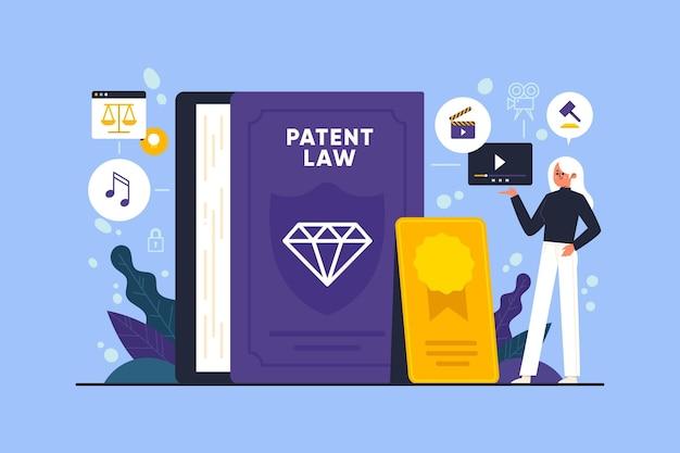 Illustration Du Droit D'auteur Du Droit Des Brevets Vecteur gratuit