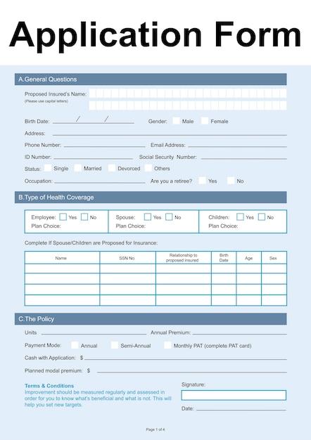 Illustration du formulaire de demande Vecteur gratuit
