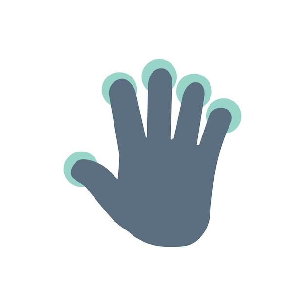 Illustration du geste de la main de l'écran tactile Vecteur gratuit