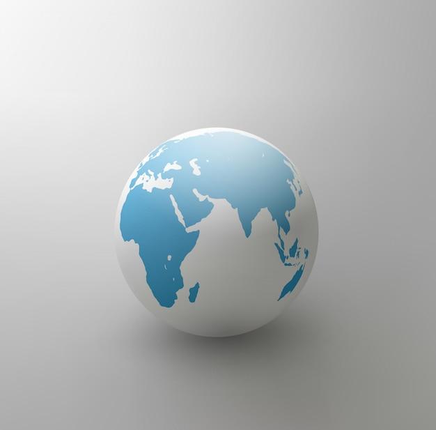 Illustration Du Globe Gris Isolé Vecteur Premium