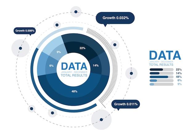 Illustration du graphique d'analyse de données Vecteur gratuit