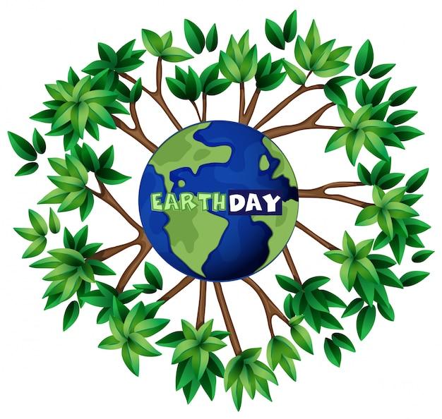 Une illustration du jour de la terre Vecteur gratuit
