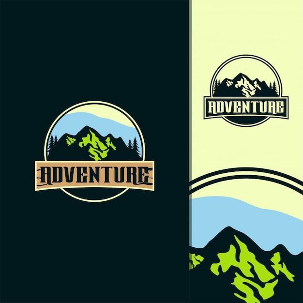 Illustration du logo aventure génial Vecteur Premium