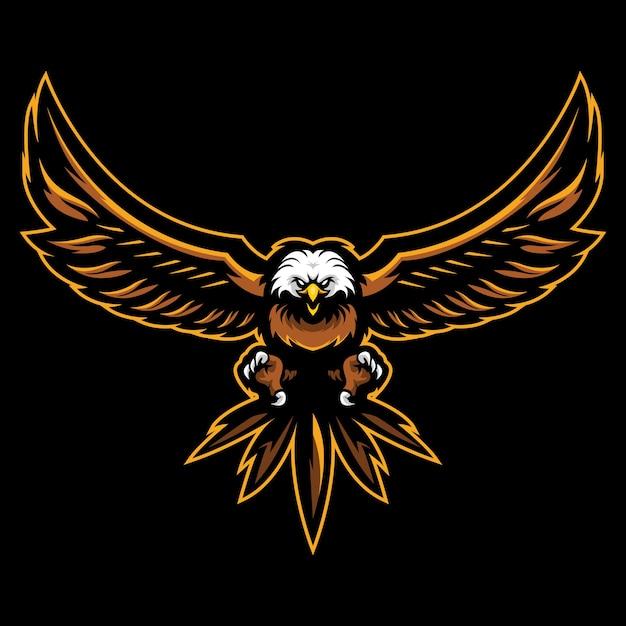 Illustration Du Logo Bald Eagle Esport Vecteur Premium