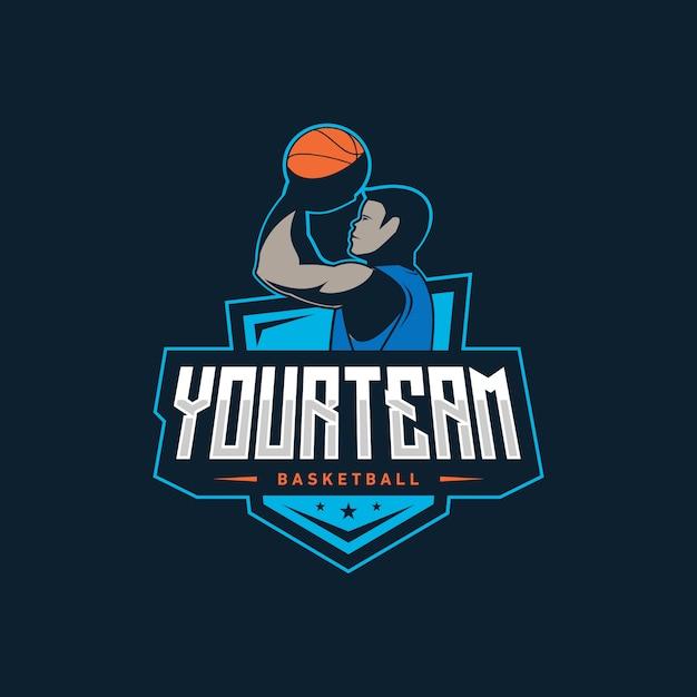 Illustration du logo de basket-ball Vecteur Premium