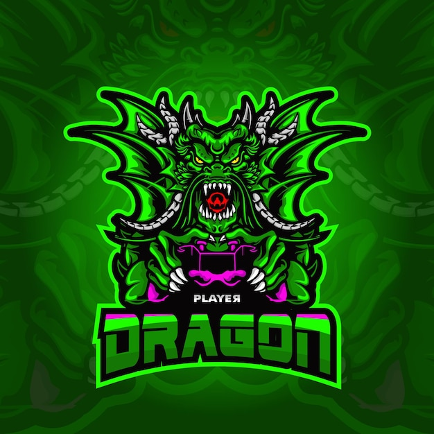 Illustration Du Logo Dragon Esport Vecteur Premium