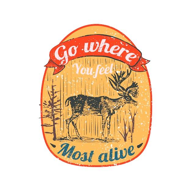 Illustration du logo du cerf sauvage Vecteur gratuit