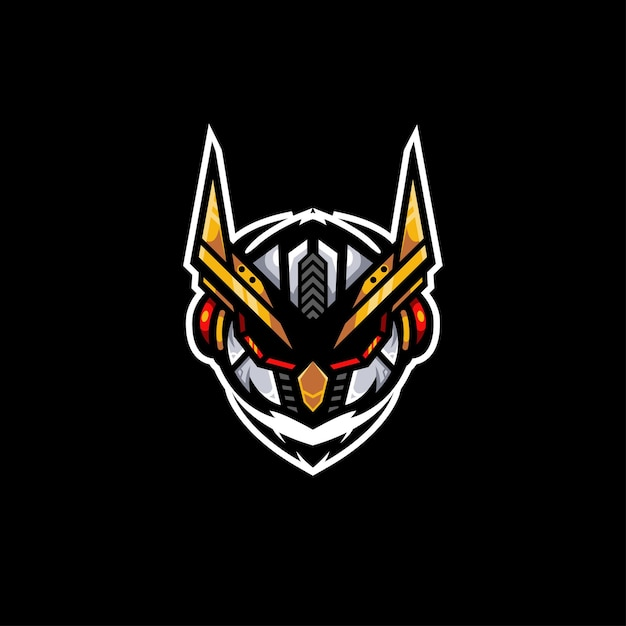 Illustration Du Logo Du Robot Owl Bot Vecteur Premium