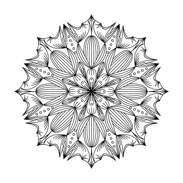Illustration du logo mandala Vecteur Premium
