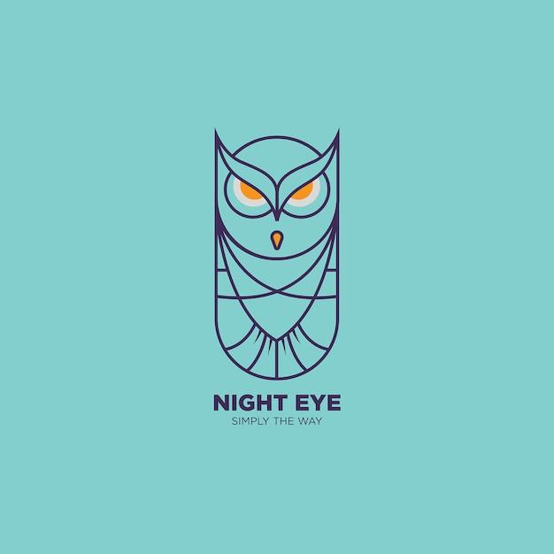 Illustration Du Logo Owl Line Art Vecteur Premium