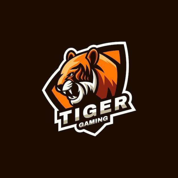 Illustration Du Logo Sports De Tigre Et Style E-sport. Vecteur Premium