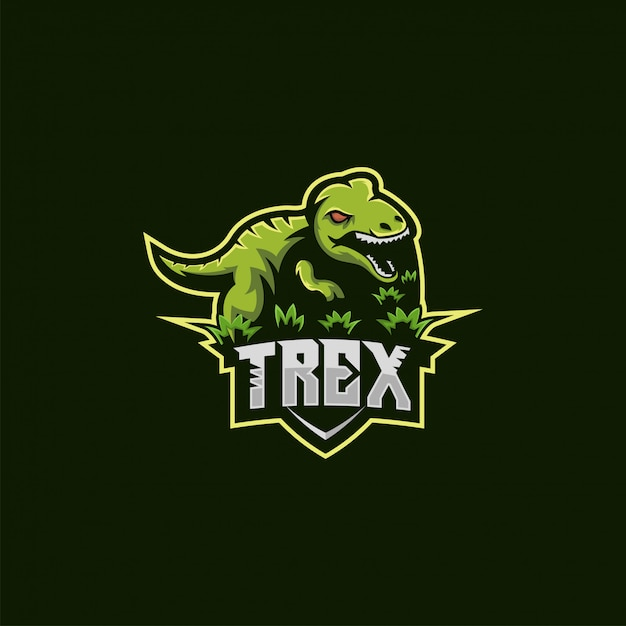 Illustration du logo t rex Vecteur Premium