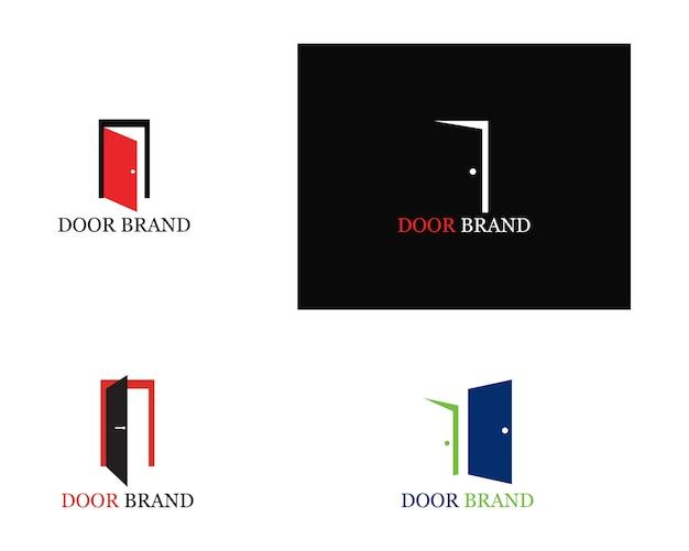 Illustration du modèle de porte logo Vecteur Premium