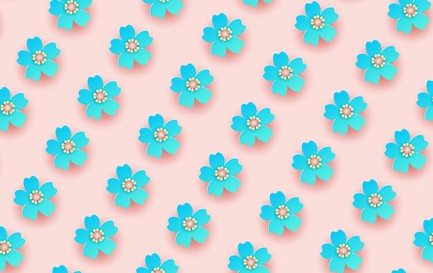 Illustration du modèle sans couture de fleur. Vecteur Premium