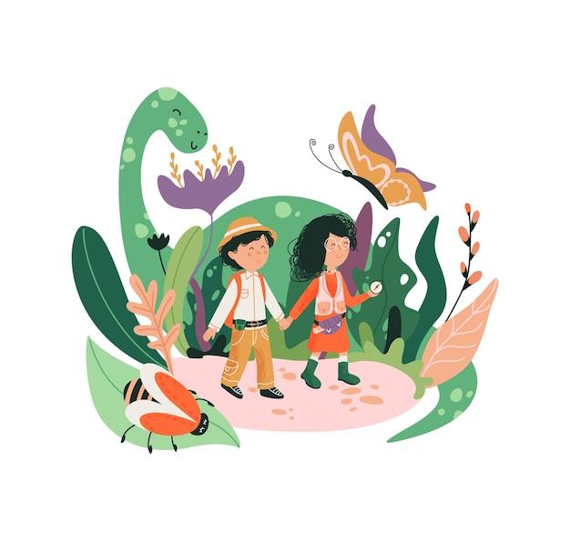 Illustration Du Monde Fantastique Enfant. Monde De L'enfance. Vecteur Premium