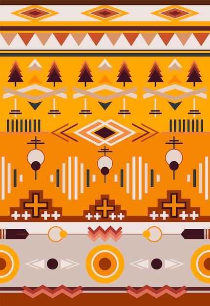 Illustration du motif ethnique Vecteur gratuit