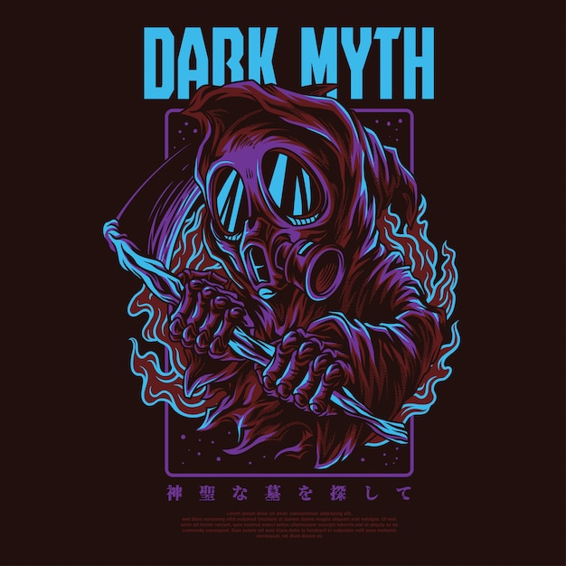 Illustration du mythe sombre Vecteur Premium