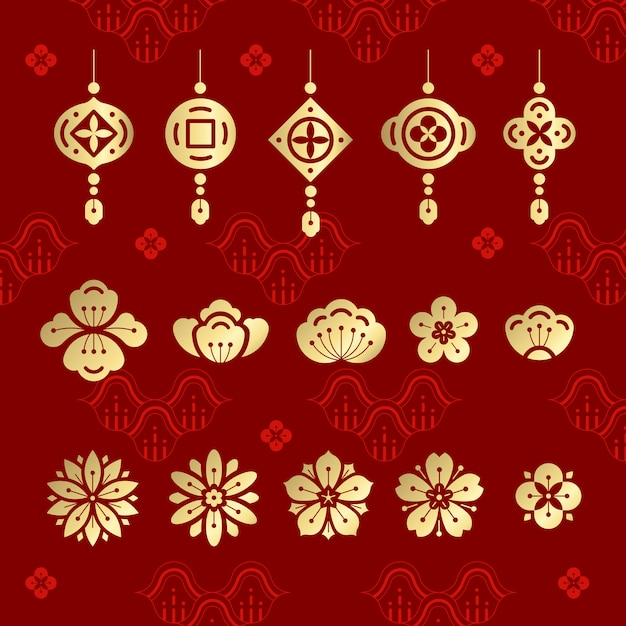 Illustration du nouvel an chinois Vecteur gratuit