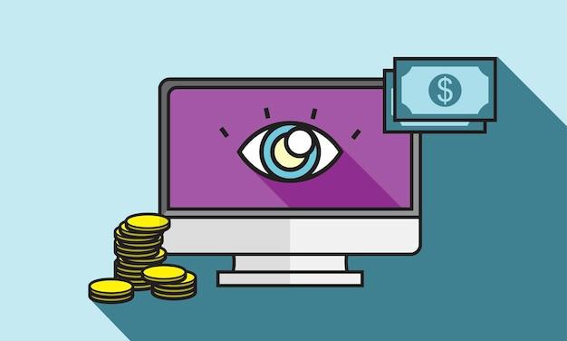 Illustration du paiement en ligne Vecteur gratuit