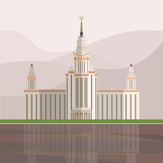 Illustration du palais de triomphe Vecteur gratuit