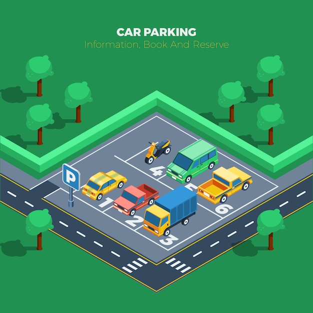 Illustration du parking Vecteur gratuit