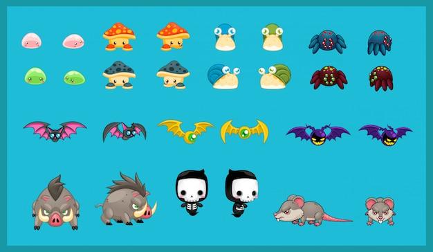 Illustration du personnage de petit monstre Vecteur Premium