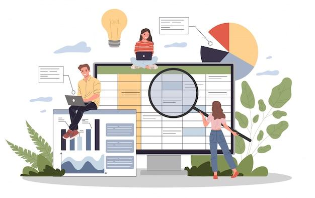 Illustration Du Rapport Comptable Vecteur Premium