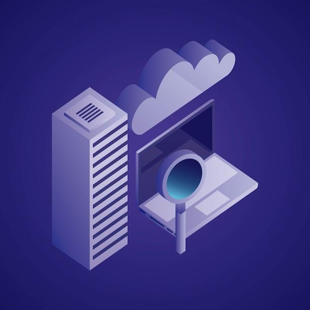 Illustration du réseau de données Vecteur gratuit