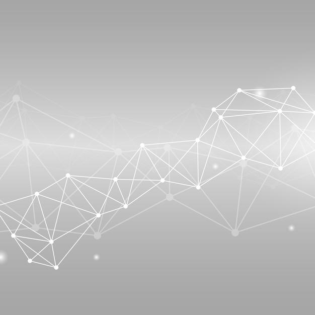Illustration du réseau neuronal gris Vecteur gratuit