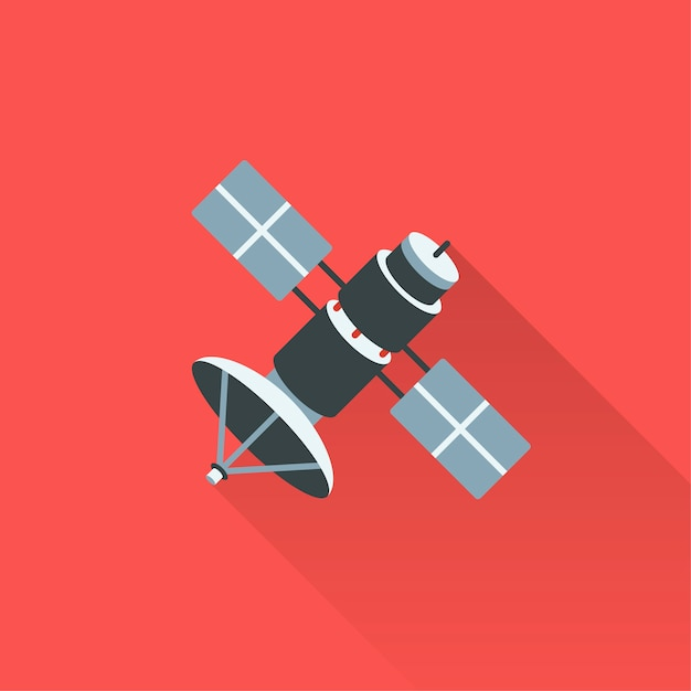 Illustration Du Satellite Vecteur gratuit