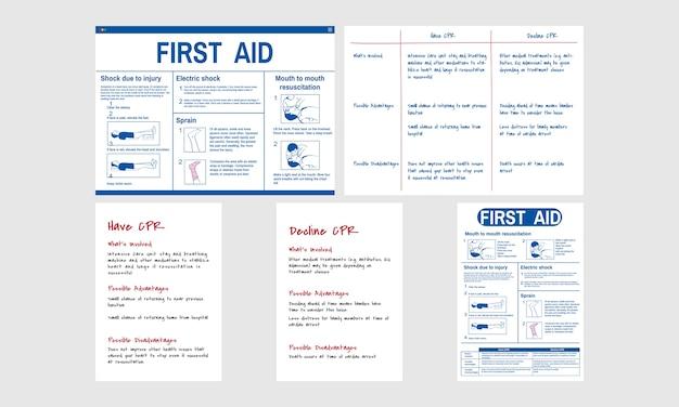 Illustration du sauvetage d'urgence par rcp Vecteur gratuit