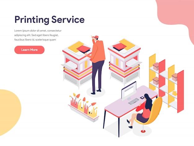 Illustration du service d'impression Vecteur Premium