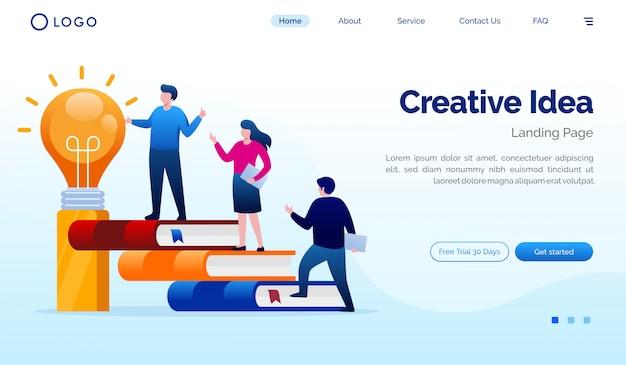Illustration Du Site Web Creative Idea Landing Page Vecteur Premium