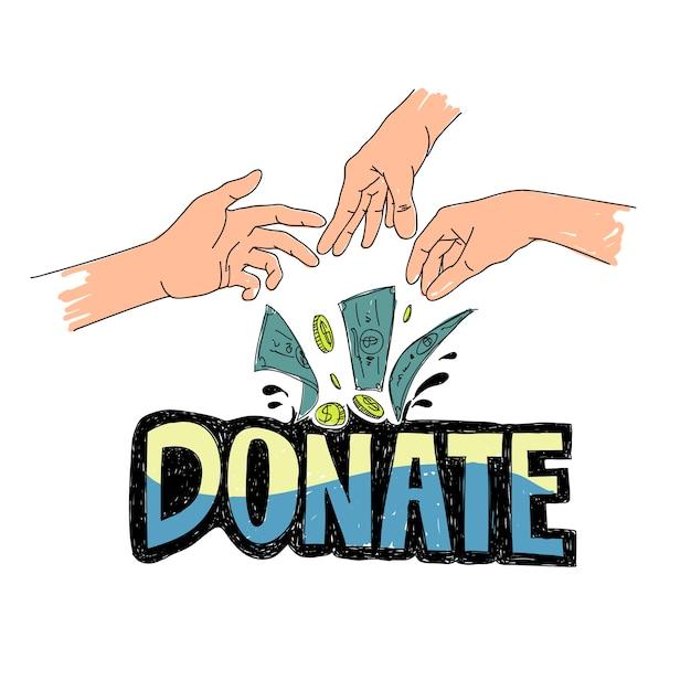 Illustration du soutien de la charité Vecteur gratuit
