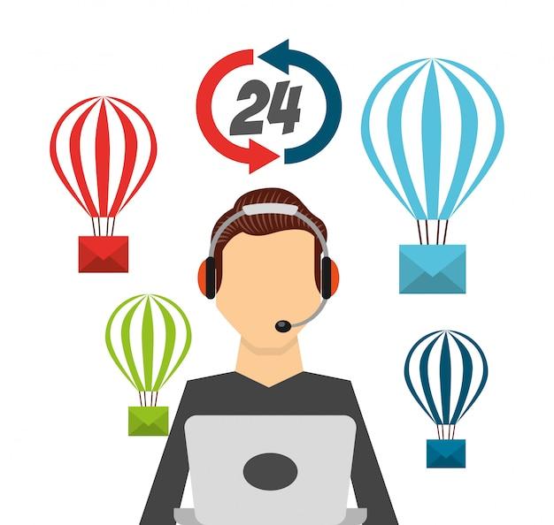 Illustration du support technique Vecteur gratuit