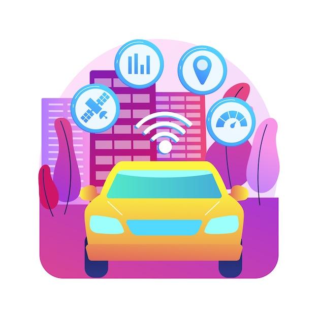 Illustration Du Système De Transport Intelligent Vecteur gratuit