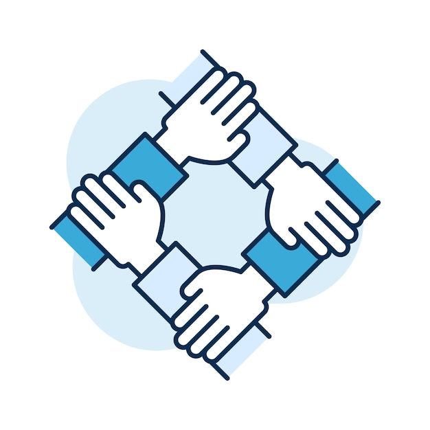 Illustration du travail d'équipe Vecteur Premium