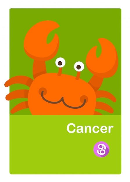 Illustration du vecteur de cancer isolé. signes du zodiaque Vecteur Premium