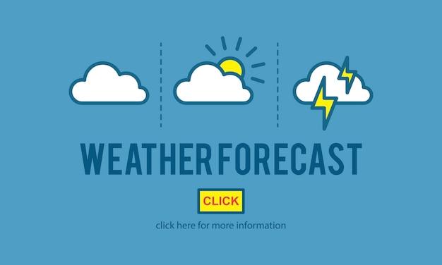 Illustration du vecteur de prévision météo Vecteur gratuit