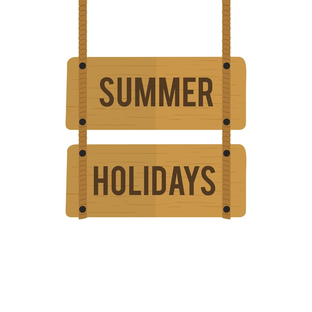 Illustration du vecteur de signe de vacances d'été Vecteur gratuit