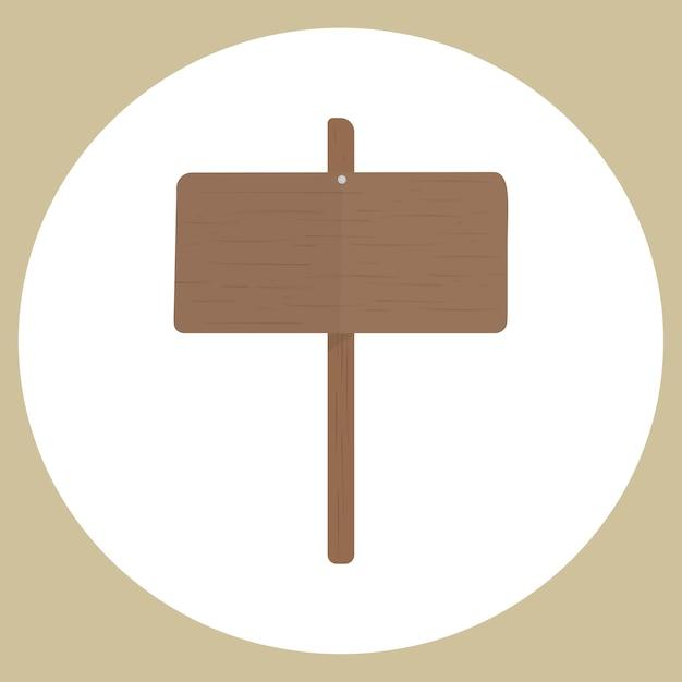 Illustration du vecteur de signe vide Vecteur gratuit
