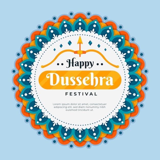 Illustration De Dussehra Vecteur gratuit