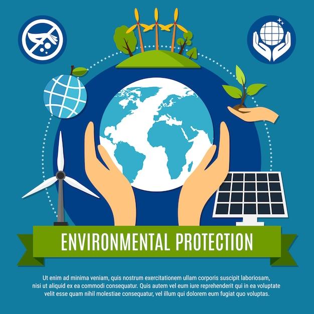 Illustration de l'écologie et de la pollution Vecteur gratuit